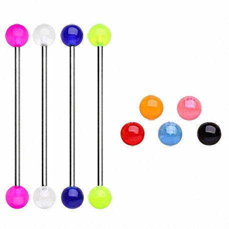 Piercing industriel boules acrylique