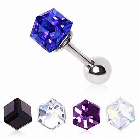 Piercing cartilage cube prisme