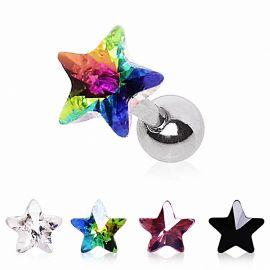 Piercing cartilage étoile prisme