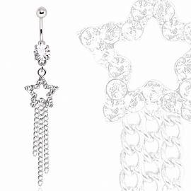 Piercing nombril étoile et chaines