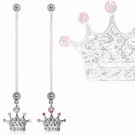 Piercing nombril de grossesse couronne