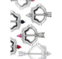Piercing téton Crystal Evolution Swarovski Flèche