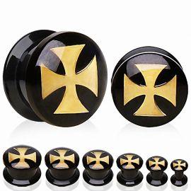 Piercing plug acrylique croix celtique