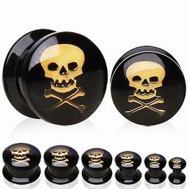 Piercing plug acrylique skull