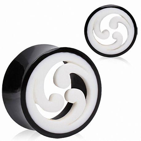 Piercing plug corne de buffle shuriken