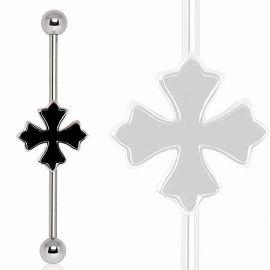 Piercing industriel croix enhendée
