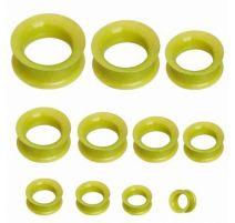 Piercing plug silicone métallique vert