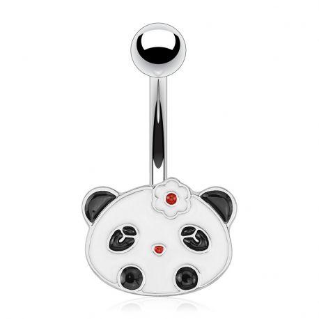 Piercing nombril tête de panda