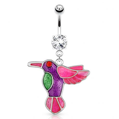 Piercing nombril colibri