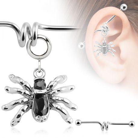 Piercing industriel pendentif araignée