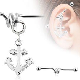 Piercing industriel pendentif ancre marine