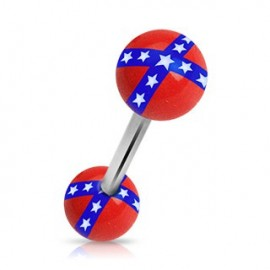 Piercing langue Drapeau Rebelle
