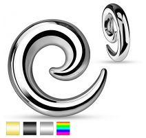 Piercing écarteur d'oreille spirale