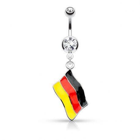 Piercing nombril Drapeau Allemagne
