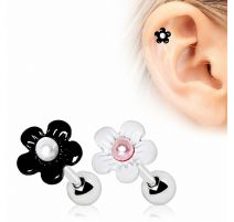 Piercing cartilage marguerite perle