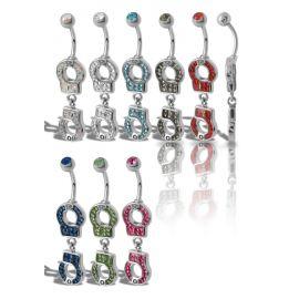 Piercing nombril Crystal Evolution Swarovski Menottes
