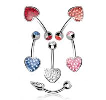 Piercing nombril Crystal Evolution Swarovski Coeur