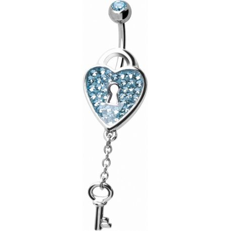 Piercing nombril Crystal Evolution Swarovski Cadenas Coeur
