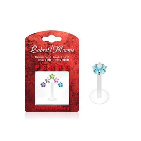 Pack Piercing Labret Bioflex Pierre Etoile - Bijou Piercing Labret