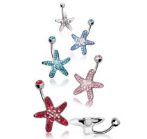 Piercing nombril Crystal Evolution Swarovski Etoile de Mer