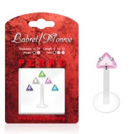 Pack Piercing Labret Bioflex Pierre Triangle