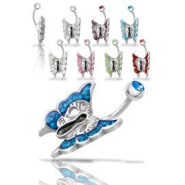 Piercing nombril Crystal Evolution Swarovski Papillon de nuit
