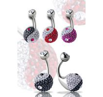 Piercing nombril Crystal Evolution Swarovski Yin et Yang