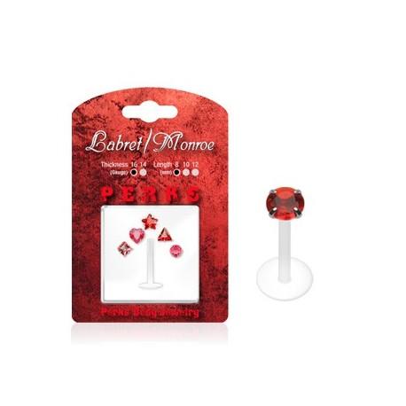 Pack Piercing Labret Bioflex Rouge - Bijou Piercing Labret