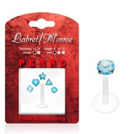 Pack Piercing Labret Bioflex Turquoise