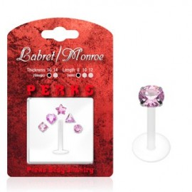 Pack Piercing Labret Bioflex Rose