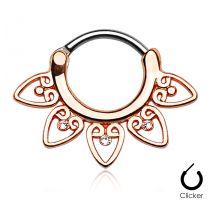 Piercing septum tribal or rose