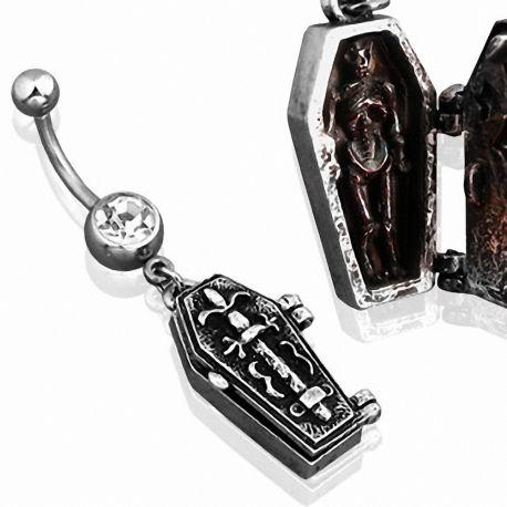 Piercing nombril cercueil