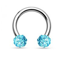 Piercing fer à cheval crystal turquoise