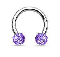 Piercing fer à cheval crystal tanzanite