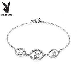 Bracelet Playboy lapins gemmes chaine