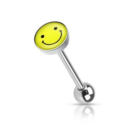 Piercing langue smiley
