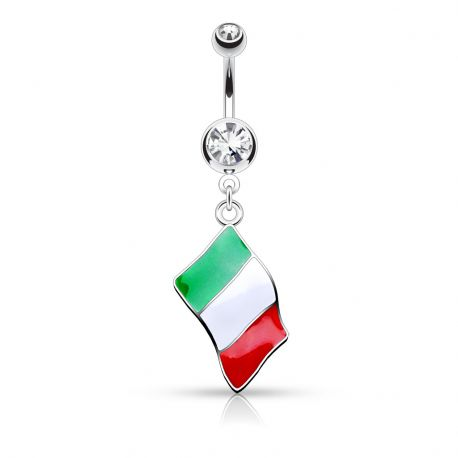 Piercing nombril Drapeau Italie