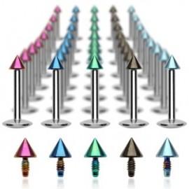 Piercing Labret Micro Spike Titanium