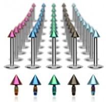 Piercing Labret Micro Spike Titanium - Bijou Piercing Labret
