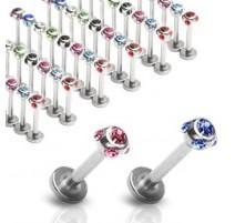 Piercing Labret Monroe 5-GEM - Bijou Piercing Labret