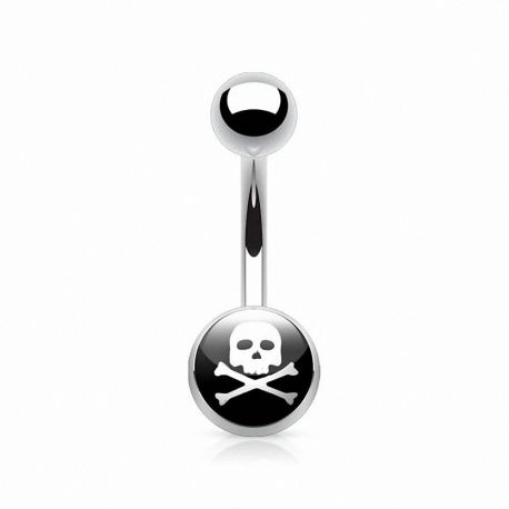 Piercing nombril crane de pirate