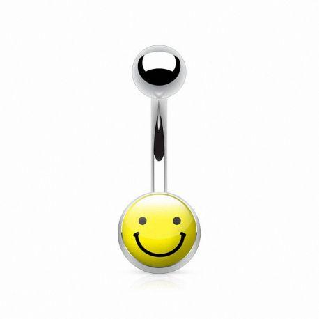 Piercing nombril smiley