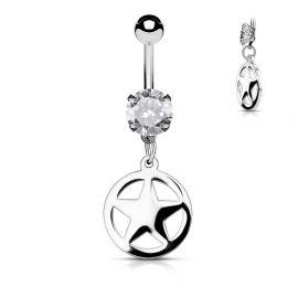 Piercing nombril étoile cercle
