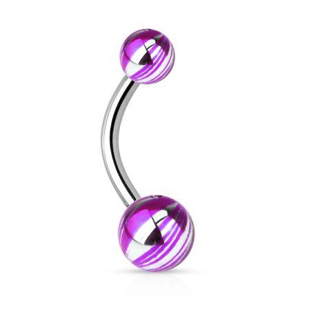 Piercing nombril couleur électrique violet