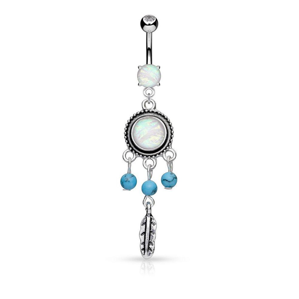 piercing nombril attrapeur de r ves opale. Black Bedroom Furniture Sets. Home Design Ideas