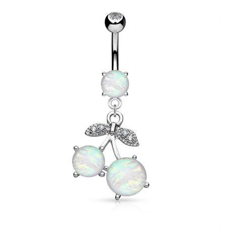 Piercing nombril cerises opale