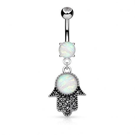 Piercing nombril main de fatma opale