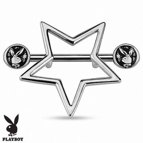 Piercing téton Playboy bouclier étoile