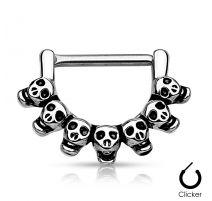 Piercing téton skulls