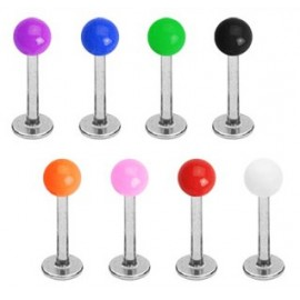 Piercing Labret Boules Acrylique UV Solide